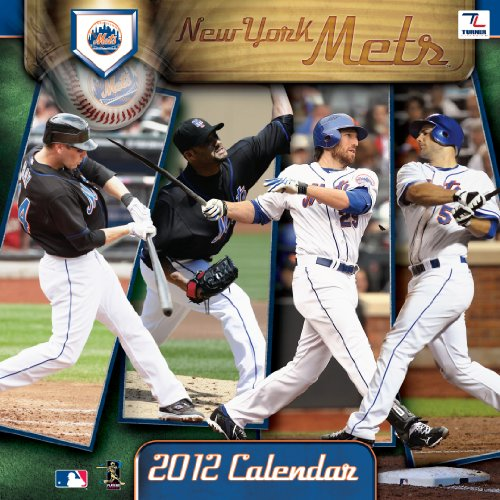 2012 NEW YORK METS 12X12 WALL CALENDAR