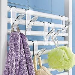Rundheizkörper Haken 6 Stück Handtuchhaken Handtuchhalter