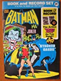 Batman Book and Record Set. Stacked Cards by Neal Adams