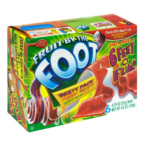 Fruit by the Foot Variety Pack (Strawberry, Color by the Foot, Tie Dye), 6-Count Rolls (Pack of 12)