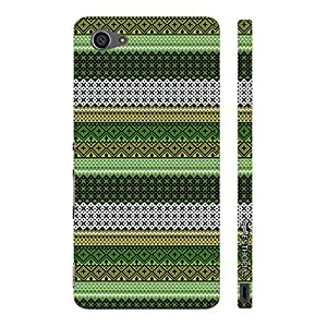 Sony Xperia Z5 Compact Line it Green designer mobile hard shell case by Enthopia