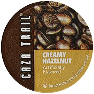 Caza Trail Single Serve Cup for Keurig K-cup Brewers, Hazelnut , 100 Count