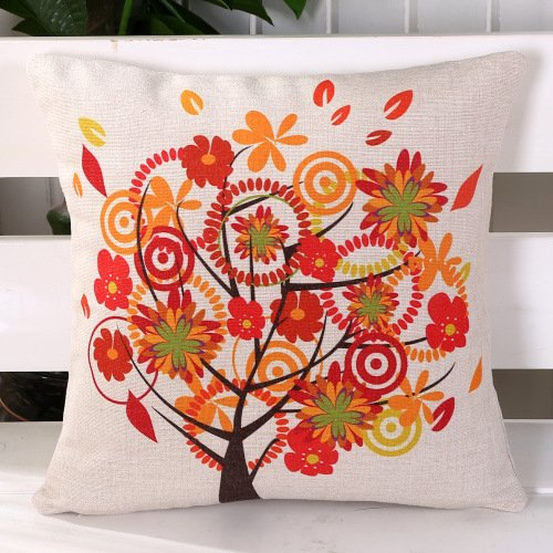 Cotone e lino stampata cuscino cuscino fiore American design , cotton - spiral flower tree