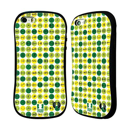 Head Case Designs ホワイト・キーボード チャットパターン ハイブリッドケース Apple iPhone 5 / 5s / SE