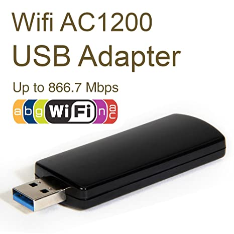 Adaptateur USB Wifi AC, GMYLE Wireless AC1200 Dual-Band 802.11ac USB3.0 866,7 Mbps WiFi WLAN 2T2R Adapteur (Realtek 8812AU Chipset)