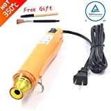 New Heat Gun,mofa Hot Air Gun Tools Shrink Gun with Stand For DIY Embossing And Drying Paint Multi-Purpose Electric Heating Nozzle 300W 110V (Yellow,Yellow) (Color: Yellow,Yellow)