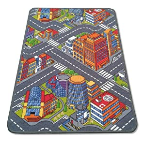 Children's City Playmat Play Rug 120cm x 80cm (47in x 31in approx.) from Classic Leisure Products