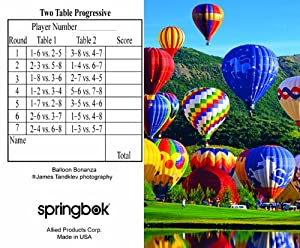 Balloon Bonanza Bridge Tallies (12 Pack) - 2 And 3 Table Progressive