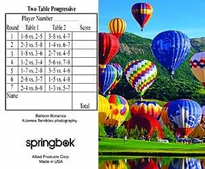 Balloon Bonanza Bridge Tallies (12 Pack) - 2 And 3 Table Progressive