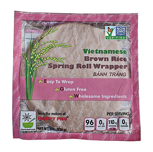 Vietnamese Brown Rice Spring Roll Wrapper -8 oz, Pack of 6 (Star Anise Foods compare prices)
