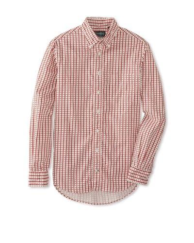 Gitman Vintage Men's Star Pattern Button-Up Shirt