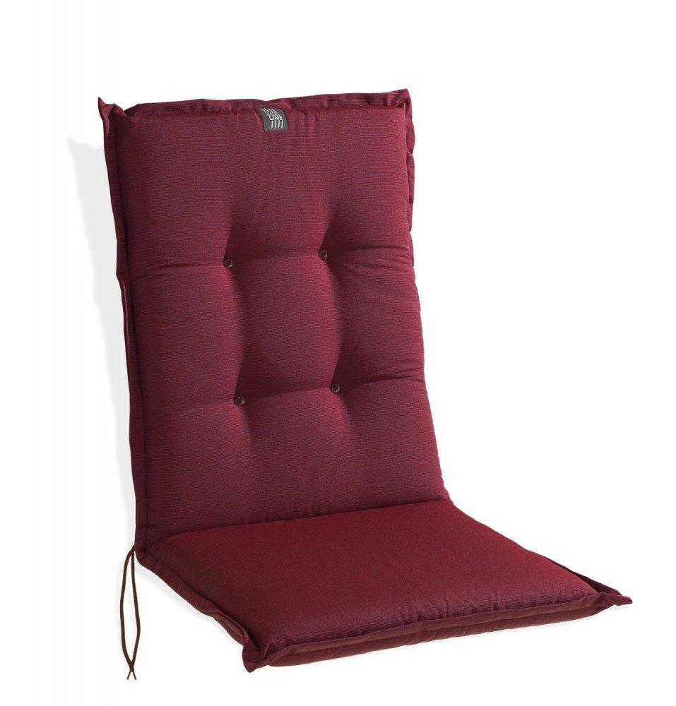Sitzkissen Polsterauflage Sesselauflage Mittellehner Bordeaux Beere 5 günstig