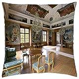 Castle Eggenberg - Garden Room - Throw Pillow Cover Case (16