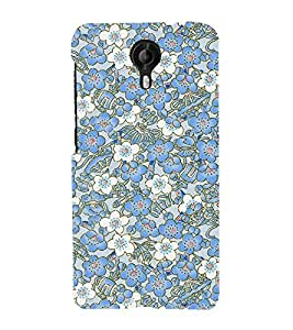 Abstract Floral Design 3D Hard Polycarbonate Designer Back Case Cover for Micromax Canvas Nitro 4G E455