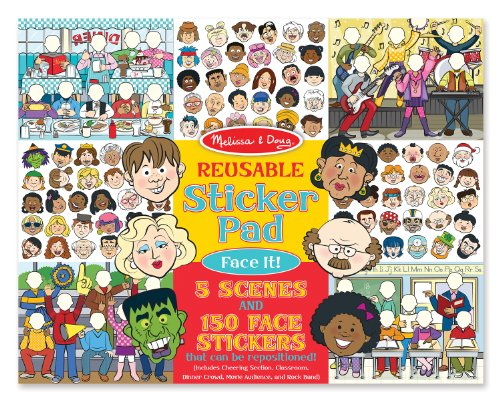 Melissa & Doug Reusable Sticker Pad: Face It! 150 Stickers and 5 Scenes (Melissa Doug Tool Box compare prices)