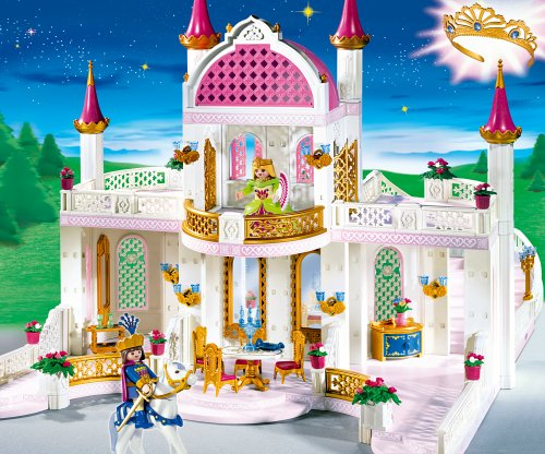 Playmobil m rchenschloss mit prinzessinnenkrone 4250 for Chateau princesse playmobil 5142