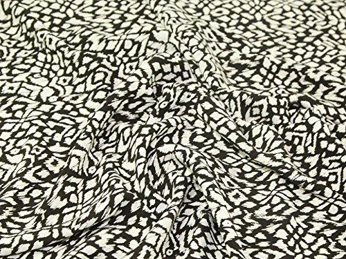 Robe Polyester Imprimé Ikat doux en tissu marron et crème foncé-par mètre + sans Minerva Crafts Craft Guide