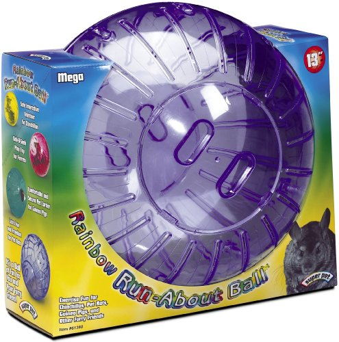 Super Pet Mega Guinea Pig Run-About Exercise Ball, 13-Inch Rainbow, Colors Vary