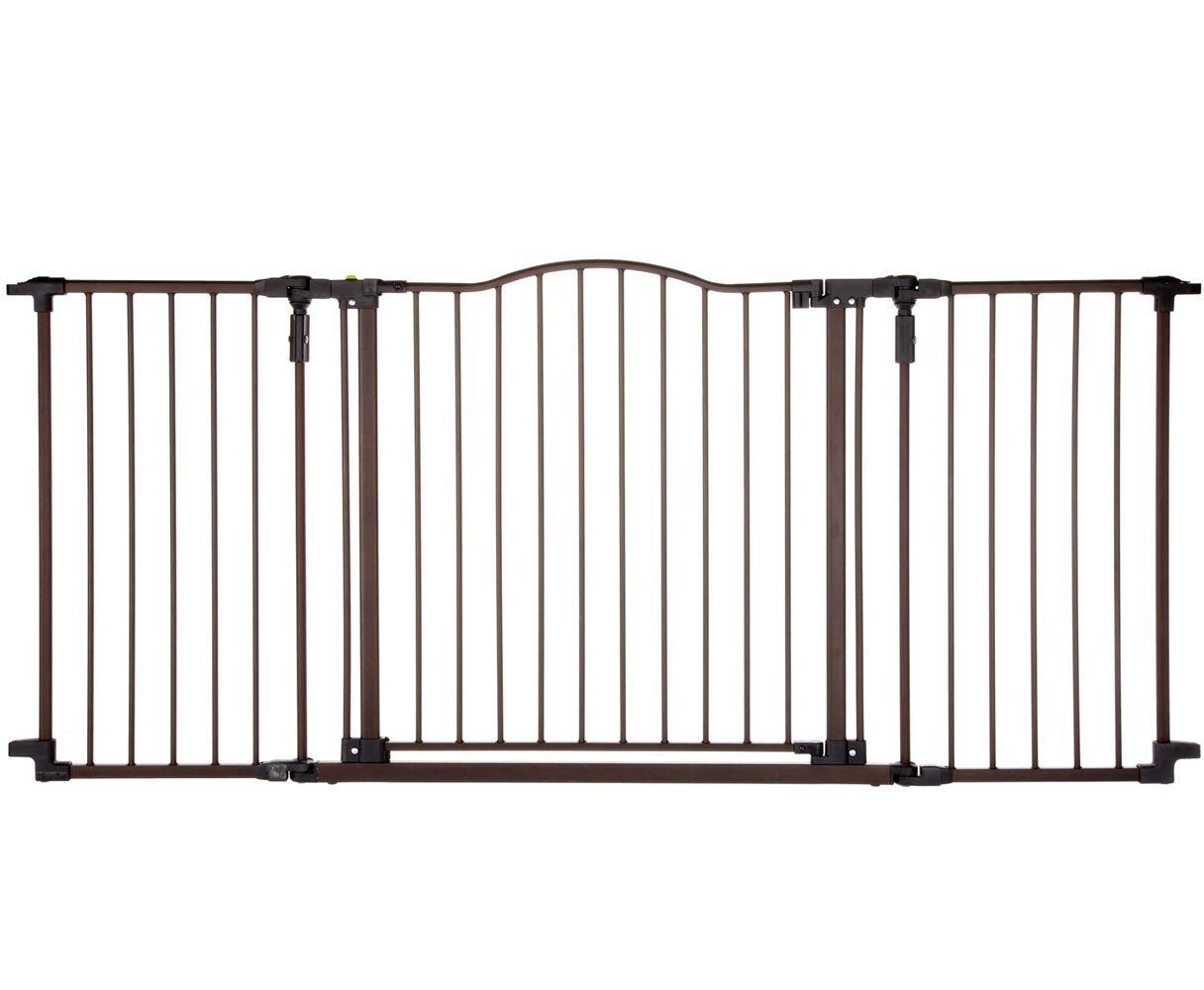 Metal Walk Thru Fence Baby Safety Gate Door Extra Wide Pet