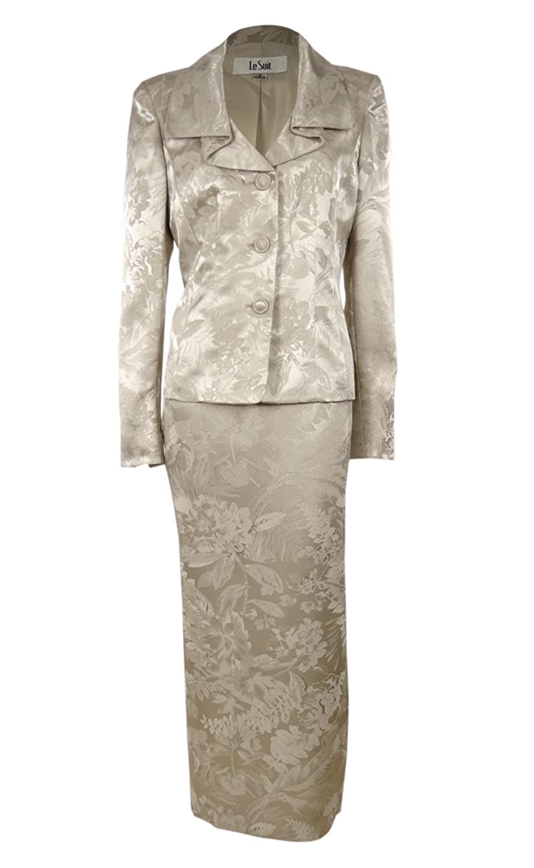 Metallic Suit Jacket Suit Jacket Long Skirt