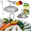 Kitchen Deluxe Veggie Stainless Steel Steamer Basket (Silver)