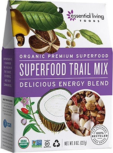 Essential Living Superfood Trail Mix, Raw, 8 Ounce