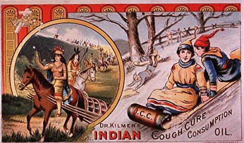 POSTER A3 Medicine Dr. Kilmer's Indian Cough Cure Publication Information: Puck Bldg., New York: J. Ottmann, Lith., 18--