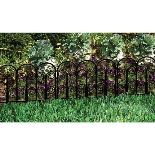 Origin Point 060018 Jasmine Classic Decorative Steel Garden Border Fence