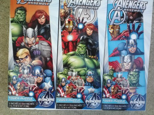 Marvel Avengers Assemble 50 Piece Tower Puzzle (3 assorted puzzles, Designs Vary) - 1