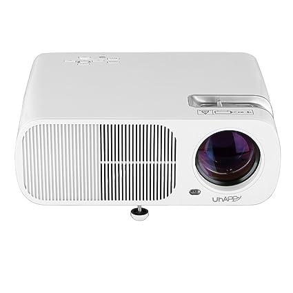 Uhappy BL20 Mini Projecteur Vidéoprojecteur LED LCD Résolution 800*480 Théâtre Multimédia Portable Home Cinéma Jeux VidéoAV / VGA / USB / SD / HDMI