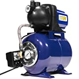 XtremepowerUS 1.6 HP Shallow Jet Water Well Pump with Tank Garden Sprinkler System, Blue (Color: blue)
