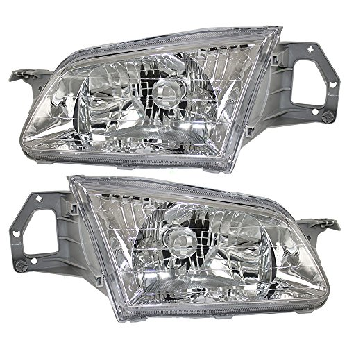 Driver and Passenger Headlights Headlamps Replacement for Mazda BJ0E-51-040A-P1 BJ0E-51-030A (Mazda 323 Headlamps compare prices)