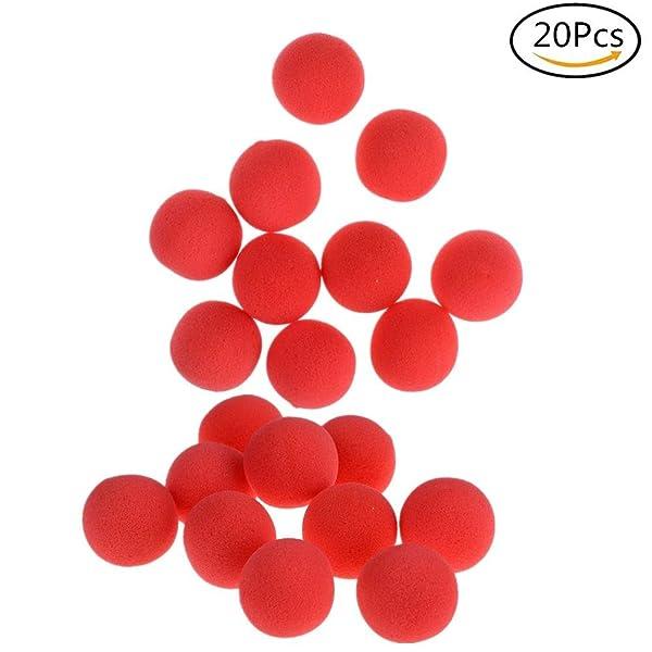 20Pcs Red Sponge Soft Ball Close-Up Magic Street Classical Comedy Trick Props (1.77inch)