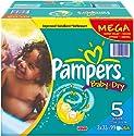 Pampers Windeln Baby Dry Gr.5 Junior 11-25 kg Megapack, 99 Stück