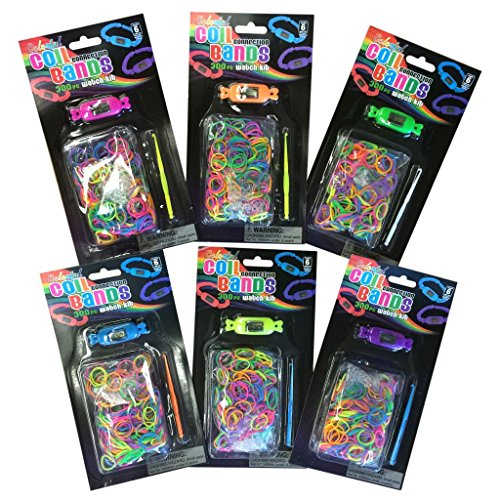 DIY Coil Connection Loom Band Watches (6 per order) - 1