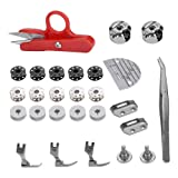 Sewing Machine Accessory Kit, 27pcs Industrial Flat Bed Sewing Machine Accessories Regular Spare Parts Tool Set