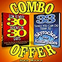 2-for-1 E-Book Publishers Power Pack Combo Offer (How to Write 30 Books in 30 Days + 33 Ways to Skyrocket Your Kindle Sales) Audiobook by Dan Howe Narrated by Eddie Frierson