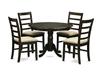 East West Furniture HLPF5-CAP-C 5-Piece Kitchen Table Set, Cappuccino Finish