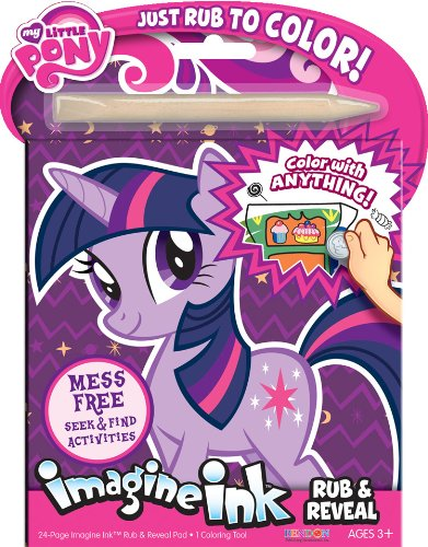 Bendon My Little Pony Rub and Reveal Book - 1