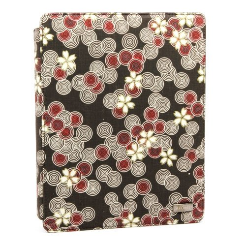 JAVOedge Cherry Blossom Axis Case for the Apple iPad 2 with Sleep/Wake Function (Cocoa Brown) - Latest Generation