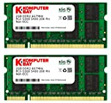 Komputerbay 4GB [2x2GB] DDR2-667 (PC2-5300) RAM Memory Upgrade Kit for the Apple iMac 7,1 (20-inch, 2.0GHz, MA876LL/A) Intel Core 2 Duo (Genuine Komputerbay Brand)