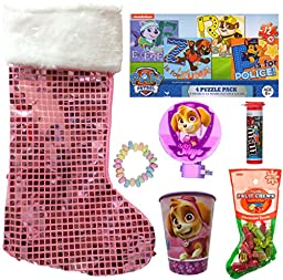 Paw Patrol Skye Holiday Christmas Stocking Gift Bundle