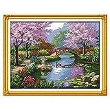 Anself DIY クロスステッチ 刺繍キット 14CT美しい風景パークパターン 57*45cm ホームの装飾