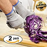 High Quality Cut Resistant Gloves By RoadPal - 2 PAIRS - Level 5 Protection, EN388 Certified Safety Gloves For Hand Protection, Kitchen, Outdoor Yard Work LIFETIME WARRANTY (Medium)