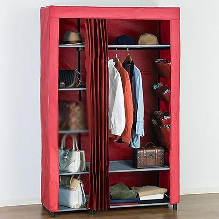 LI JING SHOP - Dos colores Tela Cortinas armario ropero Pole almacenamiento caja de almacenamiento ( Tamaño : 111*50*175CM )