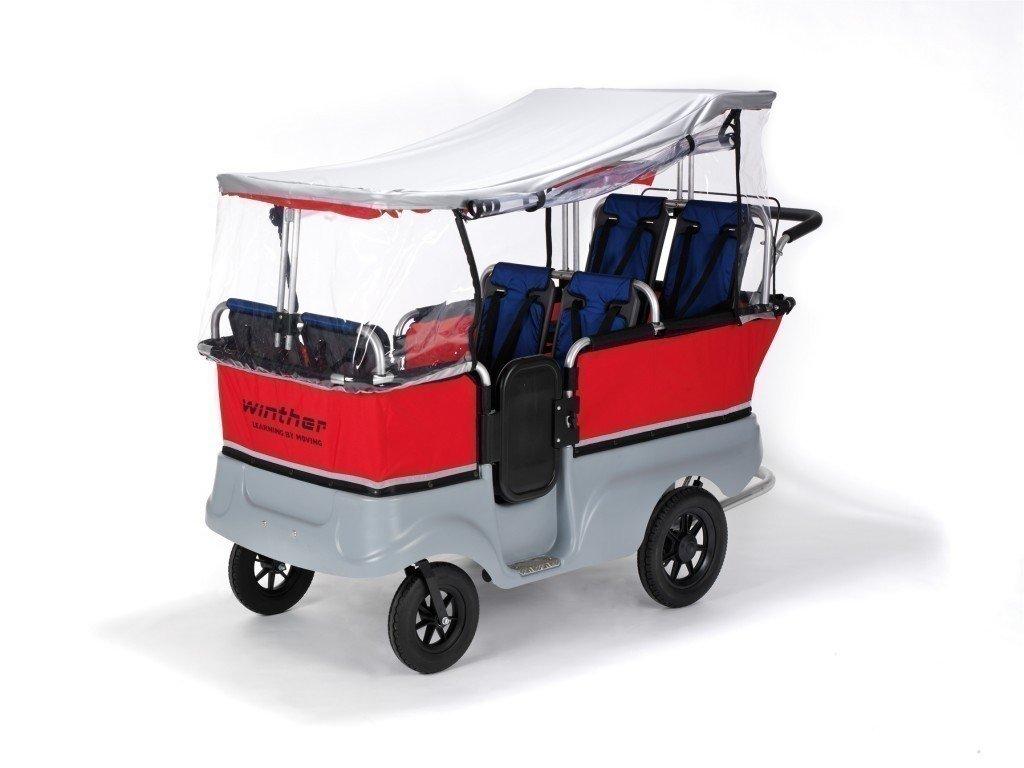 Regenschutz für den Turtle Kinderbus von Winther. Für Turtlebus 6-Sitzer (Modell 8900801) jetzt bestellen