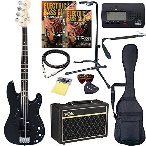 Squier by Fender Affinity Precision Bass BLK スクワイヤ/アフィニティ/プレシジョンベース エレキベースVOXアンプ【PathfinderBass10】セット [並行輸入品]