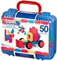 Bristle block 50 piece Basic builder case with handle from Bristle Blocks