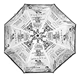 Ultra Urbane 3 Fold Automatic White & Black Fashion Rain Umbrella
