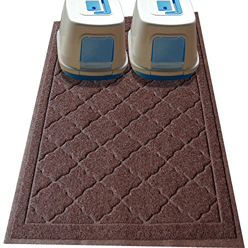 Non Toxic JUMBO Size Cat Litter Mat - (47 x 36 in) - Extra Large Scatter Control Kitty Litter Mats for Cats Tracking Litter Out of Their Box - Soft to Paws- (Patent Pending) (Litter Pan Mat compare prices)